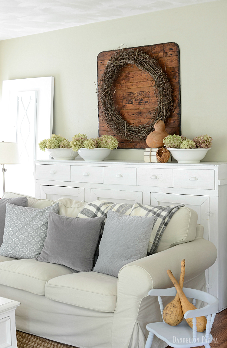 farmhouse fall neutral living room