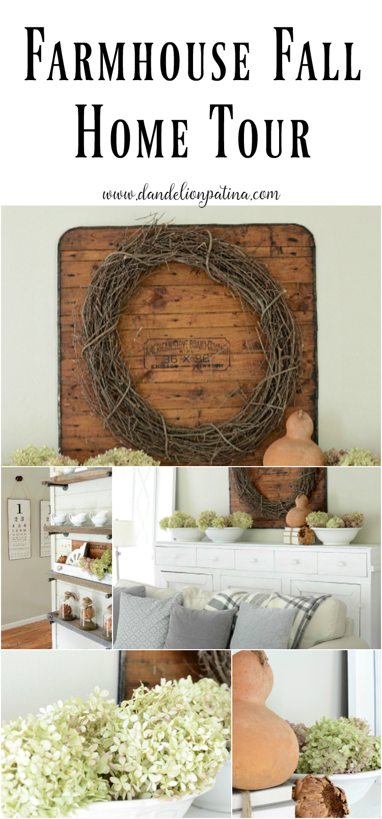 Farmhouse Fall Home Tour with natural elements and textures