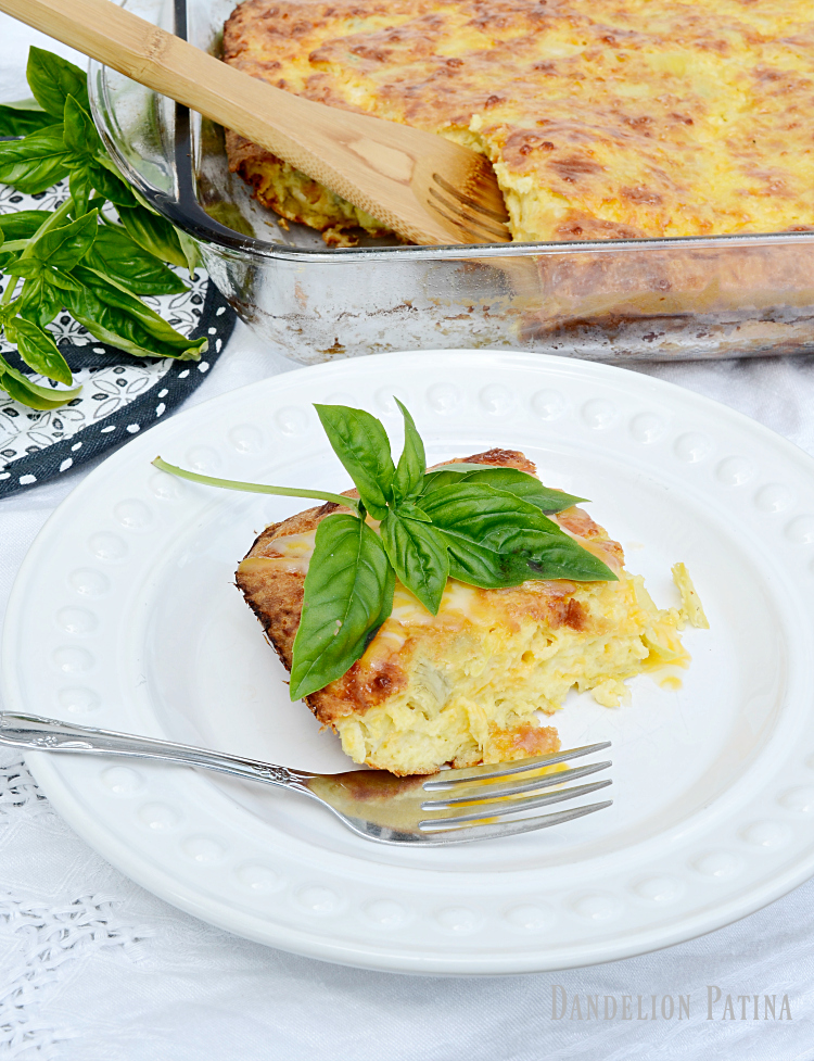 farmhouse style artichoke egg bake