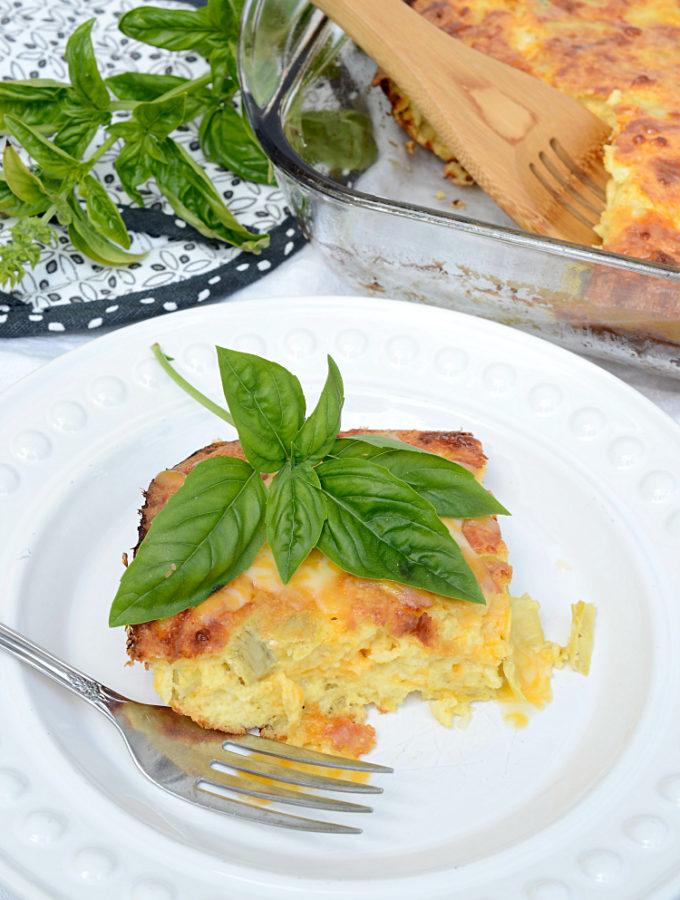 savory artichoke egg bake recipe