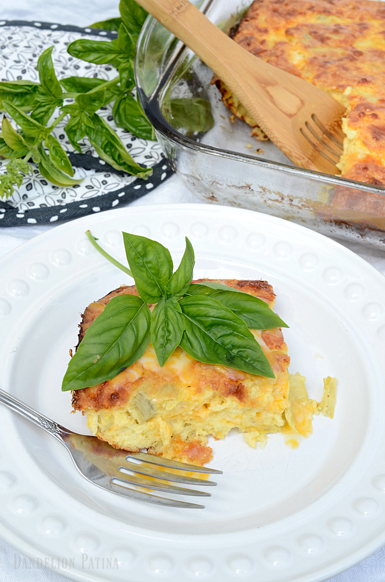 savory artichoke egg bake recipe