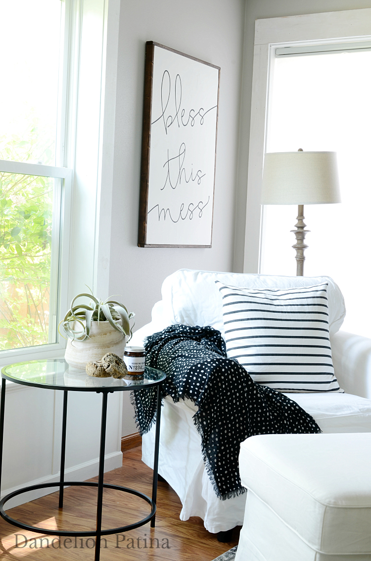 Bless this Mess Modern Farmhouse Sign from Hunt and Gather
