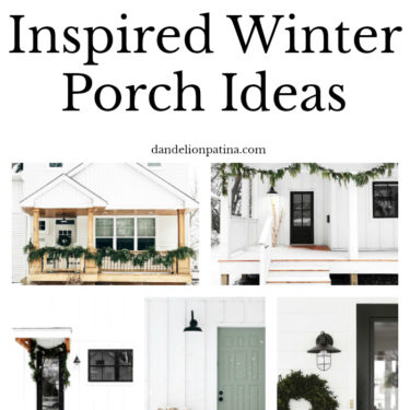 Scandinavian Inspired winter front porches